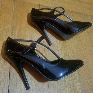 NEW Pleaser Black Mary Jane Stiletto Heels Size 7
